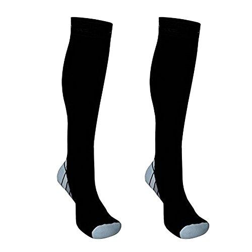 P12cheng Kompressionssocken, Sportsocken, für Damen und Herren, strapazierfähig, für Erwachsene, Damen, Herren, Sport, Fußball, Kompressionsstrümpfe, grau, L/XL - Die Leistung-strumpfhosen