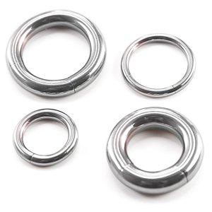 Treuheld® | Anneau segmenté Piercing -33grandes tailles: 2, 2.5, 3, 4, 5, 6,5mm- segment amovible - Anneau piercing en Argent en Acier Chirurgical 316L (acier inoxydable), [06.] - 2.0 x 19 mm