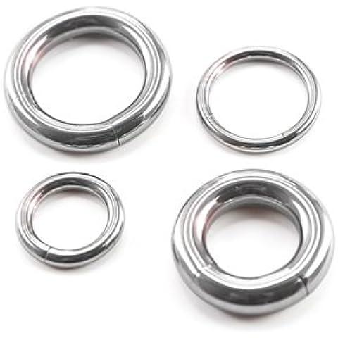 Premium Segmento Anillo Piercing–33tamaños–Grandes tamaños: 2, 2.5, 3, 4, 5, 6.5mm–Segmento entnehmbar–Aros en plata de acero quirúrgico (Acero Inoxidable) Talla:[11.] - 2.5 x 16