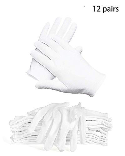 Inspektionshandschuhe,Care Baumwollhandschuhe,Stoff Handschuhe Weiss,Baumwollhandschuhe weiche,Baumwollhandschuhe weiß,Cotton Gloves,Weiße Handschuhe Baumwolle,Bequem und Atmungsaktiv