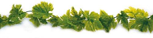 ERRO 200cm Girlande Weinblätter grün - Dekoattrappe aus Plastik, Dekoartikel, Blätterdeko, Deko...