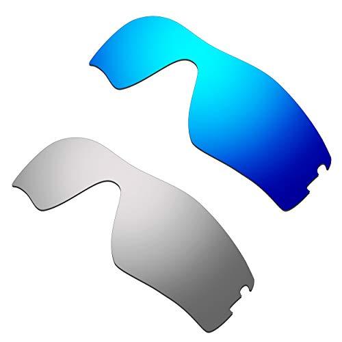 HKUCO Verstärken Ersatz-Brillengläser für Oakley Radar Pitch Blau/Titan Sonnenbrille
