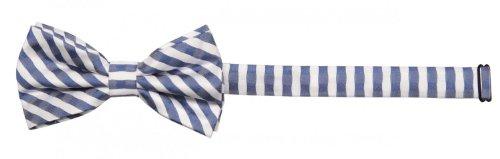 Fabio Farini Noeud papillon de à rayures en bleu blanc