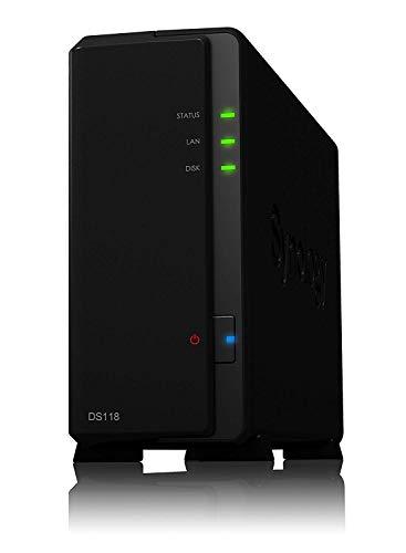 DS118 NAS Compacto Ethernet Negro Servidor Almacenamiento