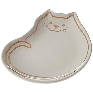 Abbott Collection 27-STEEP Cat Teabag/Trinket Plate-White-4