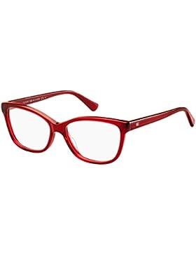 Tommy Hilfiger Damen Brillengestell Rot rot 54 cm