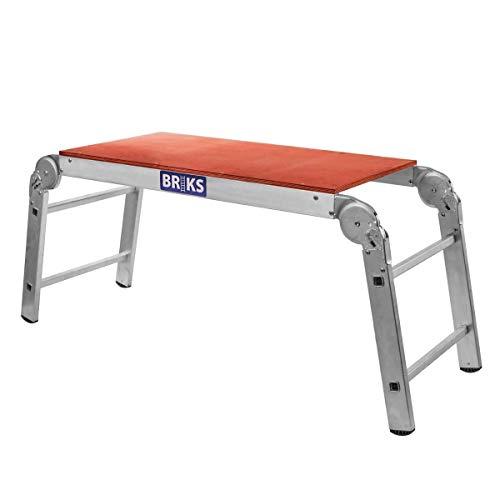 Arbeitsplattform Arbeitsb/ühne Ger/üstleiter 48 cm Arbeitsh/öhe Aluleiter Tritt Stufentritt