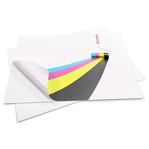 20fogli autoadesivi impermeabili Blank A4in PVC bianco opaco vinile adesivo a getto d' inchiostro laser stampabile