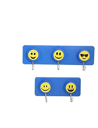 Tiamo Designer Smiley Hooks Hanger Wall Mounted Rack