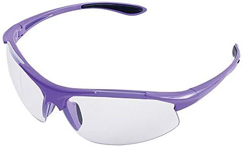 ERB Sicherheit Produkte 18624Ella Sicherheit Gläser, anti-Kratzfolie, Clear Lens, 24,4cm Höhe, 5,1cm breit, Länge 11,4cm, Kunststoff, One size, Violett