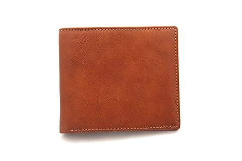 Walletech RFID - Portemmonaie aus italienischem Leder für Herren; schlankes,