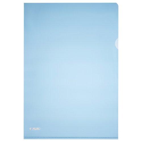 Preisvergleich Produktbild Herlitz 10917458 Aktenhülle A4 Pyramide, 25er Packung, oben und seitlich offen, farbe blau