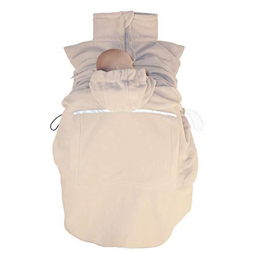 HOPPEDIZ Fleece-Cover Basic - wärmendes Tragecover für Tragehilfen - Beige (sand)