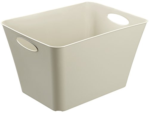 Rotho Living Aufbewahrungsbox 44 l, Kunststoff (PP), cappuccino, 44 Liter (52,6 x 39,2 x 31 cm)