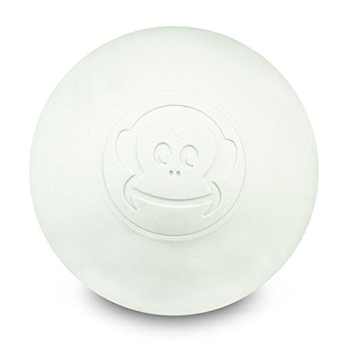 Preisvergleich Produktbild Captain LAX Massageball Original - Lacrosseball in der Farbe Weiß,  aus Hartgummi,  mit den Maßen 6 x 6 cm geeignet für Triggerpunkt- & Faszienmassage / Crossfit