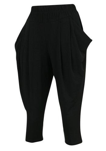 ililily-women-short-harem-baggy-pants-plus-size-stretch-lounging-trousers-pants-032-xl