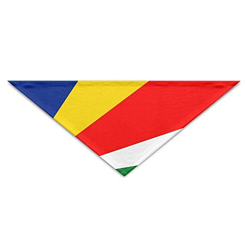 Gxdchfj Seychelles Flag Triangle Pet Scarf Dog Bandana Pet Collars Dog Cat - Birthday