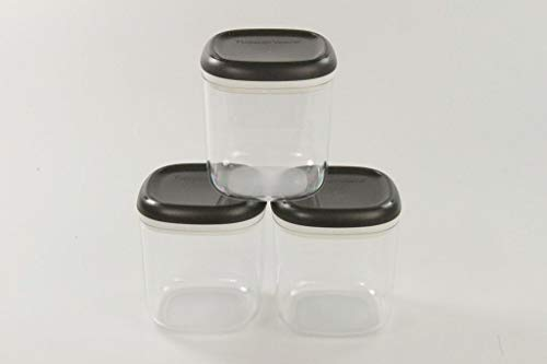 TUPPERWARE Clear Collection 780 ml (3) Crystal schwarz transparent