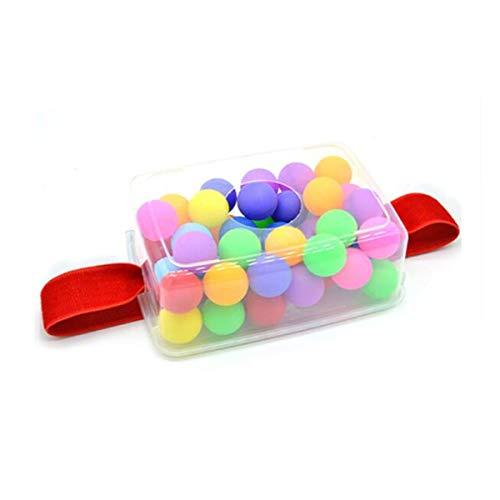Chenjinxiangou01 Tischtennisbälle, Schütteln Tischtennisspiel Requisiten Eltern-Kind-Spaß Hüftgurte Schütteln Ball Box Kindergarten Interaktives Spielzeug, Farbe, 40 / Box Zart