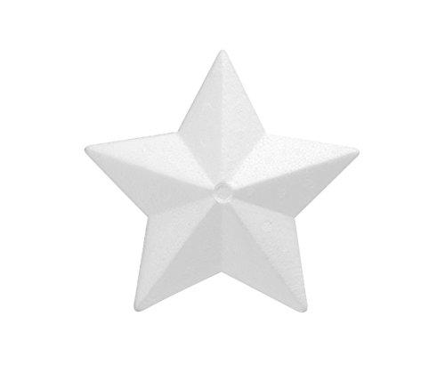GLOREX Styroporstern, Styropor, Weiß, 30 x 30 x 7 cm