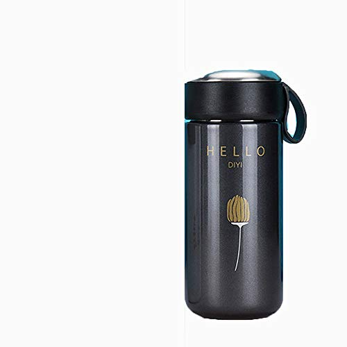 VBNM Thermos Creative Coffee Thermo Mug Vacuum Cup Stainless Steel Thermos Bottle Tea Infuser Insulated Thermal Sport Water Bottle Tumbler,B