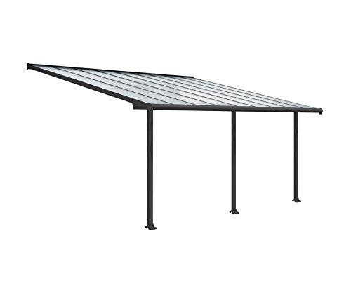 Palram Patio CoverOlympia, 16 mm Terrasenüberdachung, grau, 546 x 295 x 305 cm