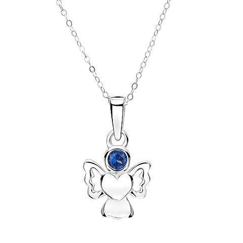 Jo for Girls - September Birthstone Angel - Simulated Sapphire