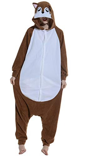 SAMGU-Blumen-Geist Ratte Tier Onesie Pyjama Kostüme Schlafanzug Erwachsene Unisex (XL(Körpergröße:181-188cm))