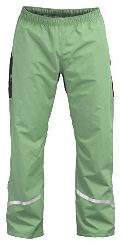 Rubberneck NXSVN Regenhose Wasserdicht & Atmungsaktiv, Reflektierend mit 3M Reflektor-Streifen Grün Größe M