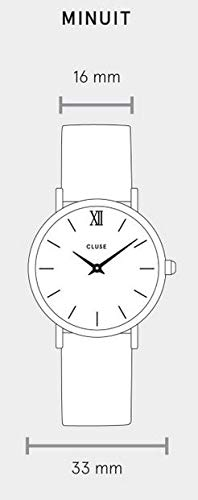 Cluse Damen-Armbanduhr Analog Quarz Leder CL30022