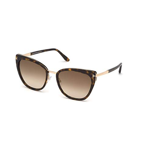 Tom Ford Sonnenbrillen Simona FT 0717 Dark Havana/Light Brown Shaded Unisex