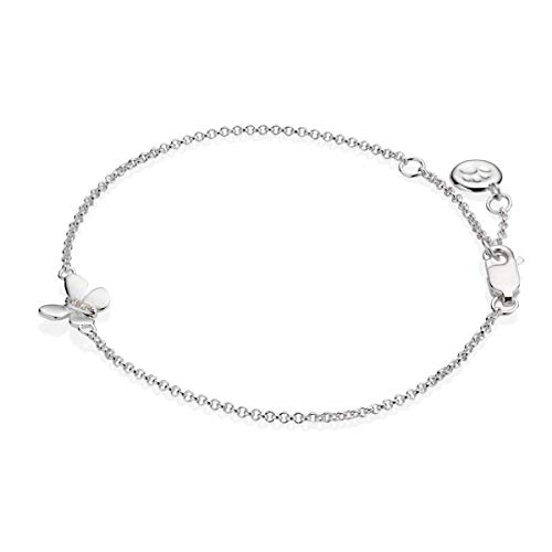 Molly Brown London Armband Sterling-Silber 925 weißer Topas Monarch Schmetterling