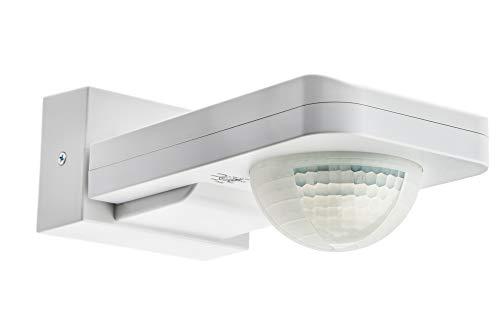 HUBER Motion 6, Bewegungsmelder 360°, weiß, hochsensibel durch 3 Sensoren und Matrixlinsen, inklusive Unterkriechschutz und Bereichsbegrenzung, Wand und Deckenmontage, IP65 Strahlwasser geschützt