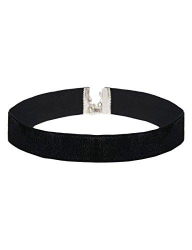 Choker-schwarz-Samt-Halsband-silber-Kropfband-Bandkette-Samtband-Collier-Halskette-ethno-Damen-ImiLoa