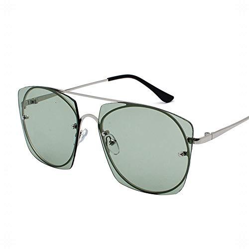 Anti-UV Retro Round Face Sonnenbrille für Damen und Herren Brille (Farbe : Green)