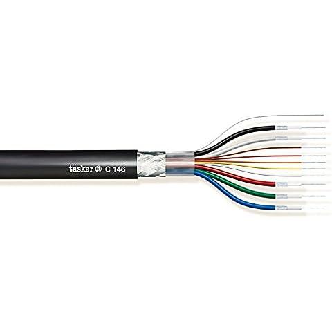 Tasker C146 Cavo video schermato S-VGA/XGA 5x0,08 mm² (75 Ohm) + 5x0,08 mm² (80 % Di Rame Treccia)