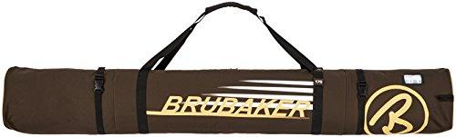 BRUBAKER Skitasche Carver Champion gepolsterter Skisack für 1 Paar Ski und Stöcke 170 cm Braun Sand