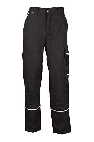 Stenso Emerton® - Pantaloni da Lavoro multitasca Extra Resistenti - Uomo - Nero - 48