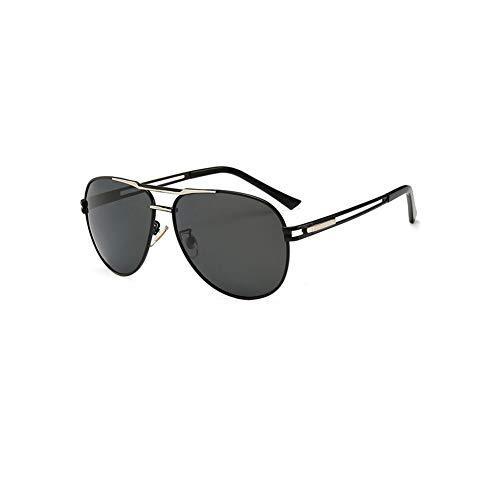 TOOSD Sonnenbrille, Polarisierte Metallgestell Herren Schutz Brille Fahren Flieger-Sonnenbrille Einheitsgröße Objektiv Sonnenbrille,C
