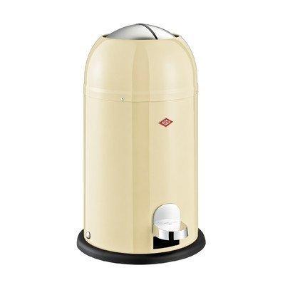 Wesco Kickmaster Waste Can, 4-Gallon, 15-Liter, Junior Almond by Wesco