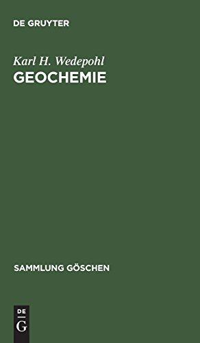 Geochemie (Sammlung Göschen)