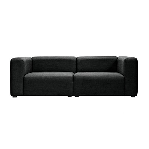 HAY Mags 2,5-Sitzer Sofa Stoff Surface 228x95.5x67cm, schwarz Stoff Surface 990