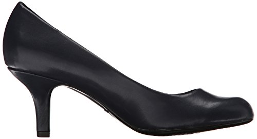Easy Street Women's Passion Dress Pump,Black Patent,6 M US Navy