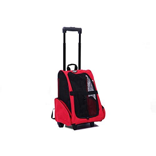 GHH Haustier Reisetasche Laufkatzen Fördermaschine Haustier Fördermaschinen Rucksack Luxusreise Haustier Taschen Spaziergänger,red -