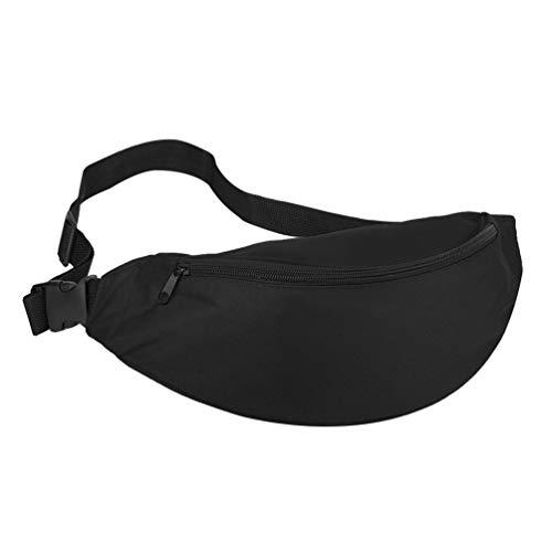 Sforza Sport Schulter Tasche Laufen Damen Herren Outdoor Taschen Reiten Korean Fashion Nylon Material Geeignet für Männer und Frauen - Schwarz