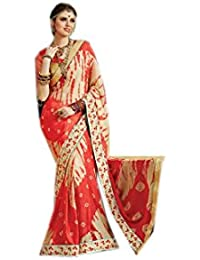 Mantra Fashions Women's Georgette Saree (Mant34_Multi)-Pack of 2