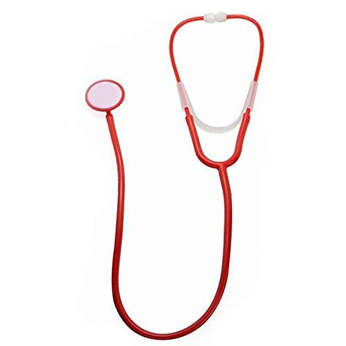 hwester Requisiten Krankenschwester Stethoskop Requisiten Realistische Red Performance Allerheiligen ()