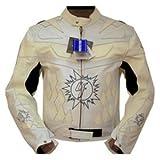 4LIMIT Sports Biker Motorradjacke >>4racing<< Lederjacke Motorrad Jacke weiß