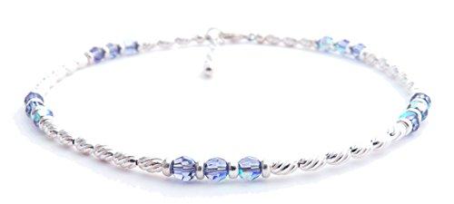 Damali Damen -  925 Sterlingsilber  Silber Rund    Saphir  -
