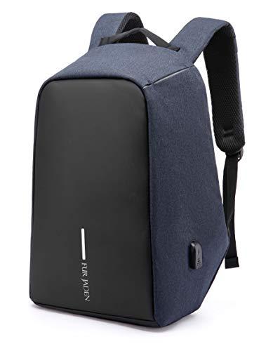 Fur Jaden 15 Ltrs Navy Anti Theft Waterproof Backpack